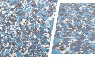Blue color epoxy flooring coating