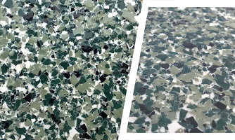 Green color epoxy flooring coating
