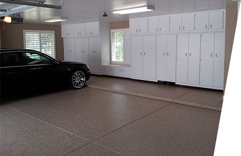 Bakersfield Epoxy Flooring on a residential garage floor