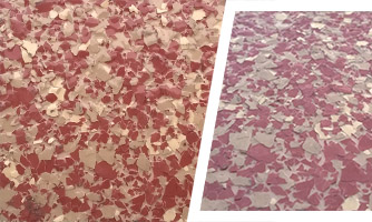 Red color epoxy flooring coating